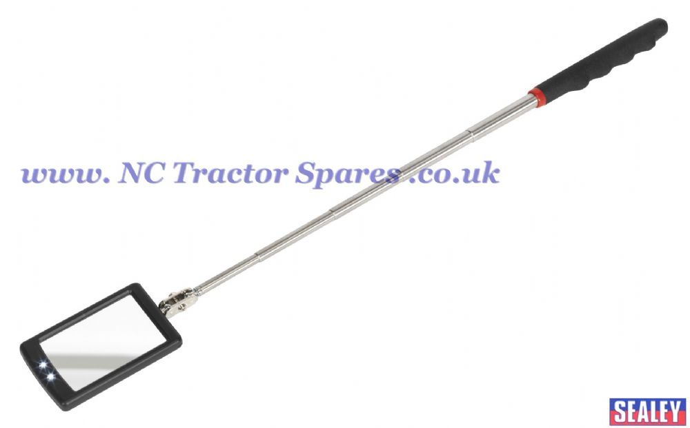 Telescopic Inspection Mirror 65 x 40mm with 2 LEDs